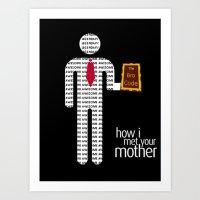 how i met your mother Art Prints featuring How I Met Your Mother Bro Code by Josh Goldman