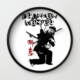 Old Drunken Master Wall Clock