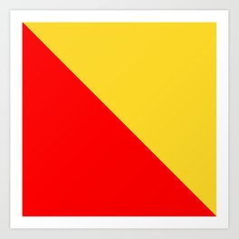 flag of palermo Art Print
