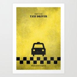 Taxi Driver - Minimal Art Print