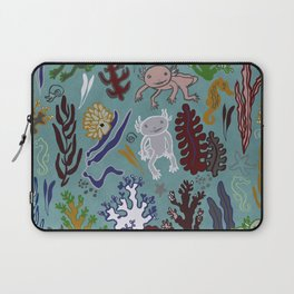 Strange creatures in the seabed. turquoise and pink. Laptop Sleeve