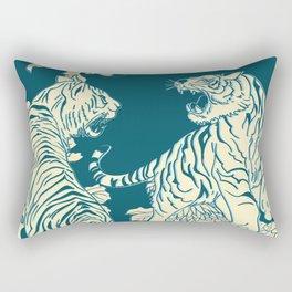 floral tigers Rectangular Pillow