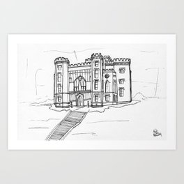 Baton Rouge Louisiana Old State Capitol Art Print