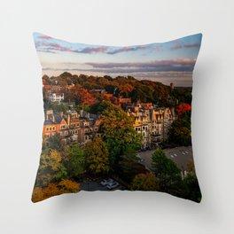 Autumn in Brookline, MA Throw Pillow