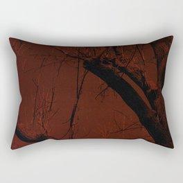 all red Rectangular Pillow