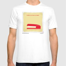 No255 My OFFICE SPACE minimal movie poster Mens Fitted Tee MEDIUM White