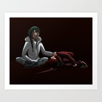 nico di angelo Art Prints featuring The di Angelos by limevines