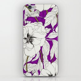 Purple Peonies iPhone Skin
