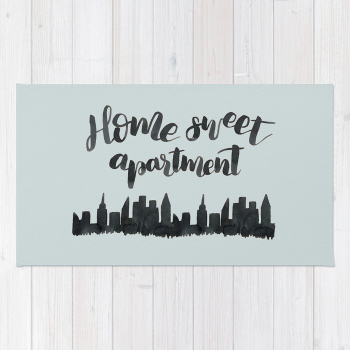 Home Sweet Apartment Nyc Rug