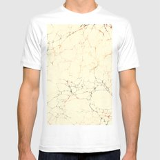 Marbled Cream MEDIUM Mens Fitted Tee White