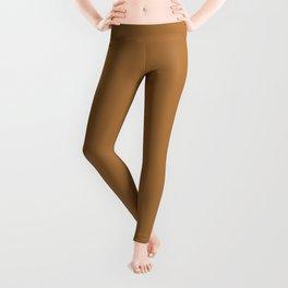 Solid Jewel Tone Gold Leggings