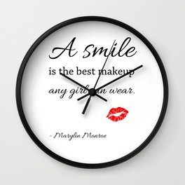 Marylin monroe Quote typography  Wall Clock