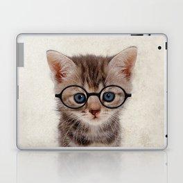 Kitten with Glasses Laptop & iPad Skin