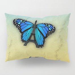 Paris' butterfly Pillow Sham