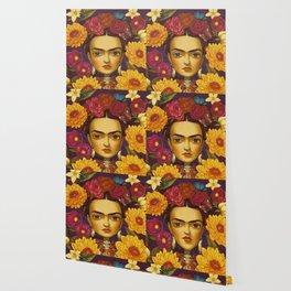 Frida Flowers Wallpaper