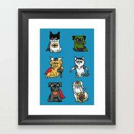 Superhero Puppies Framed Art Print