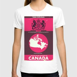 Canada Vintage map cover. T-shirt