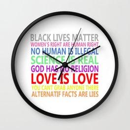 BLACK LIVES MATTER Wall Clock