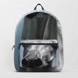 Arabian White Horse Painting Backpack