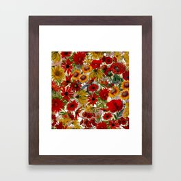 Vintage & Shabby Chic - Colorful End Of The Summer Framed Art Print