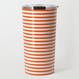 Orange Candy Stripes Travel Mug