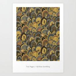 Tree Huggers in Gold Art Print