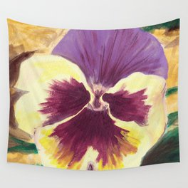 Pretty Pansy Wall Tapestry