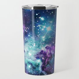 Fox Fur Nebula : Purple Teal Galaxy Travel Mug