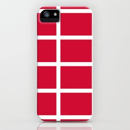 abstraction from the flag of denmark iPhone Case