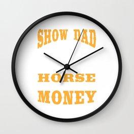 Horse Lover Dad Show Racer Horseman Girl Gift Wall Clock
