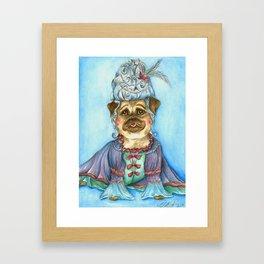 Marie Pugtoinette Framed Art Print