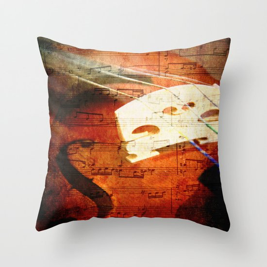 Suite Music Throw Pillow
