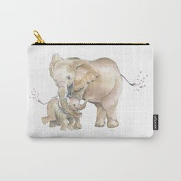 Mother's Love - Elephant Family Carry-All Pouch