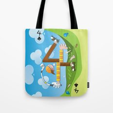 Fore of Clubs Tote Bag