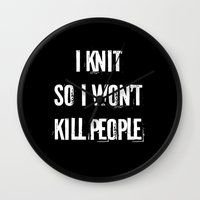 knit Wall Clocks featuring knit by Regina Trifeau
