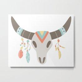 Tribal Skull #3 Metal Print
