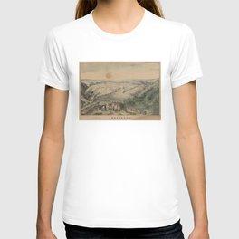 Vintage Pictorial Map of Jerusalem Israel (1846) T-shirt