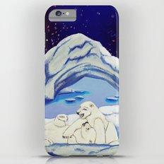 Peaceful Polar Bears Slim Case iPhone 6 Plus
