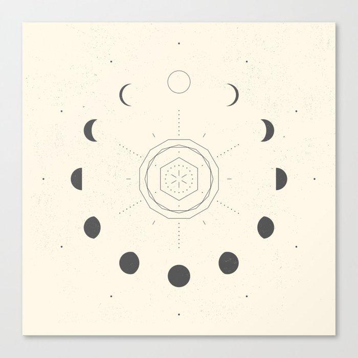 Moon Phases Light Canvas Print