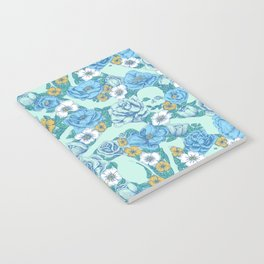 Weapon Floral-Blue Notebook