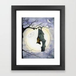 Moonlight Bat Framed Art Print