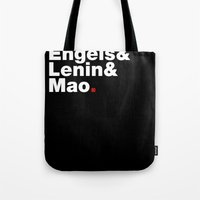 marx Tote Bags featuring Marx&Engels&Lenin&Mao. by Hammer and Pickle