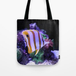White and Yellow Butterfly Fish Tote Bag
