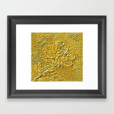 embossed floral Framed Art Print