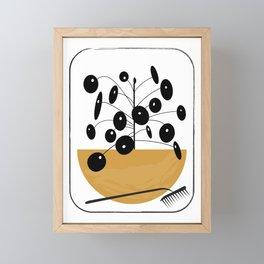 Black MCM Pilea Framed Mini Art Print