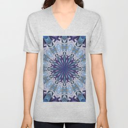 Winter abstract mandala Unisex V-Neck