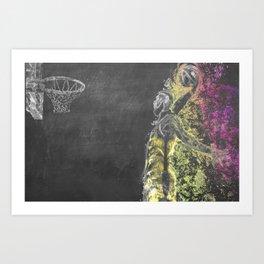 LeBron Chalkboard Art Print