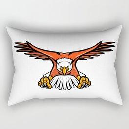 Bald Eagle Swooping Front Mascot Rectangular Pillow