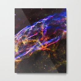 Veil Nebula Supernova Remnant (Detail) Metal Print