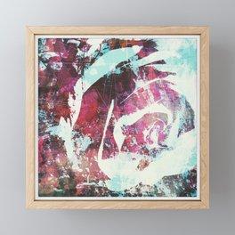rose, digital graffiti Framed Mini Art Print